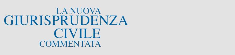 Logo Nuova Giurisprudenza Civile Commentata
